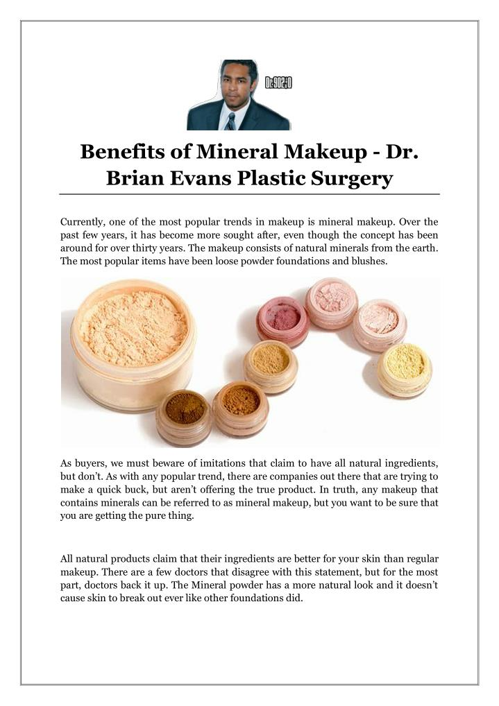 Benefits of Mineral Makeup - Dr.