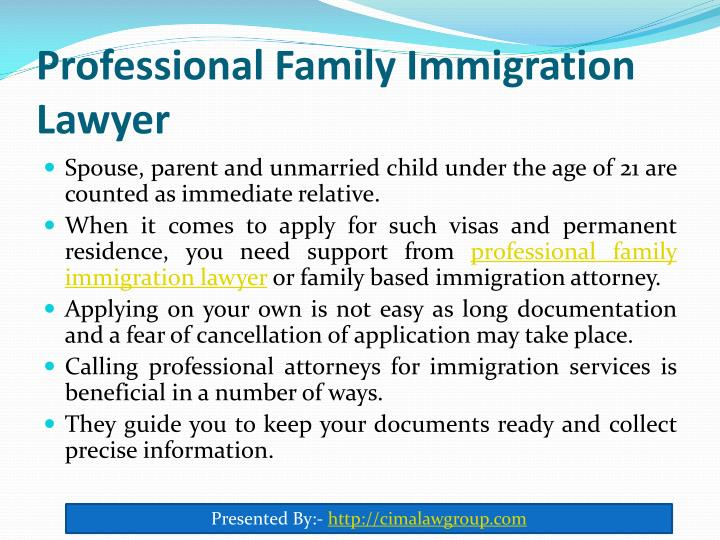 Professional family immigration lawyer