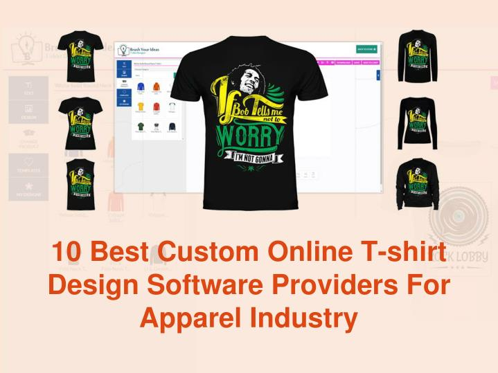 10 Best Custom Online T-shirt Design Software Providers For Apparel Industry