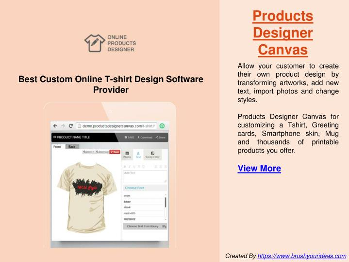 Products Designer Canvas