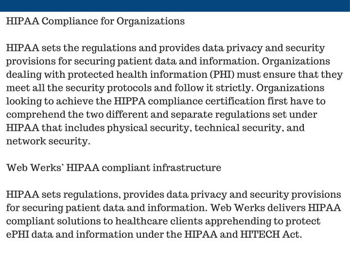 HIPAA Compliance for Organizations