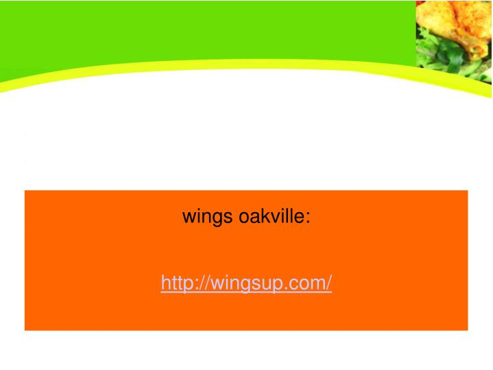 wings oakville: