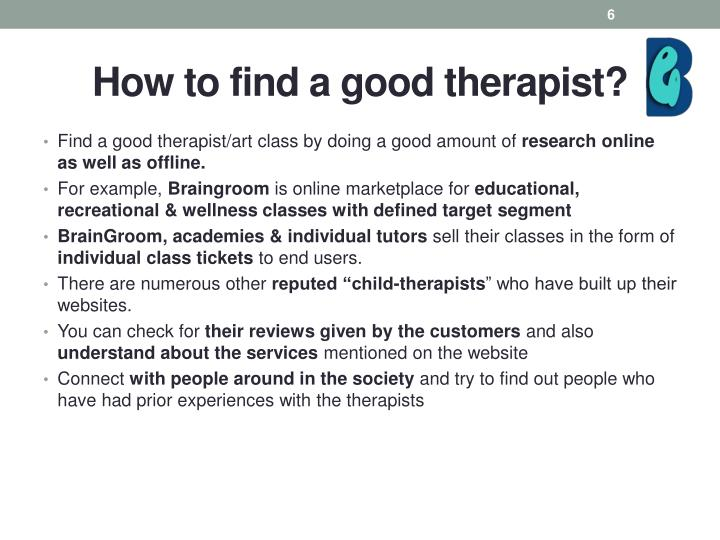How to find a good therapist?