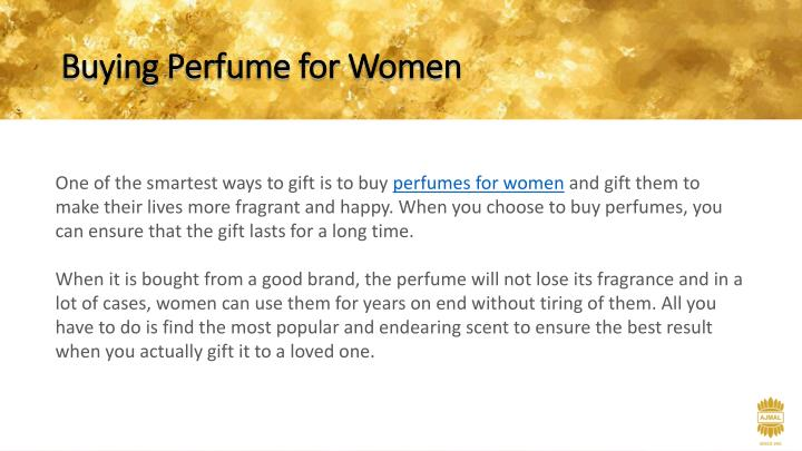 Buying Perfume for Women