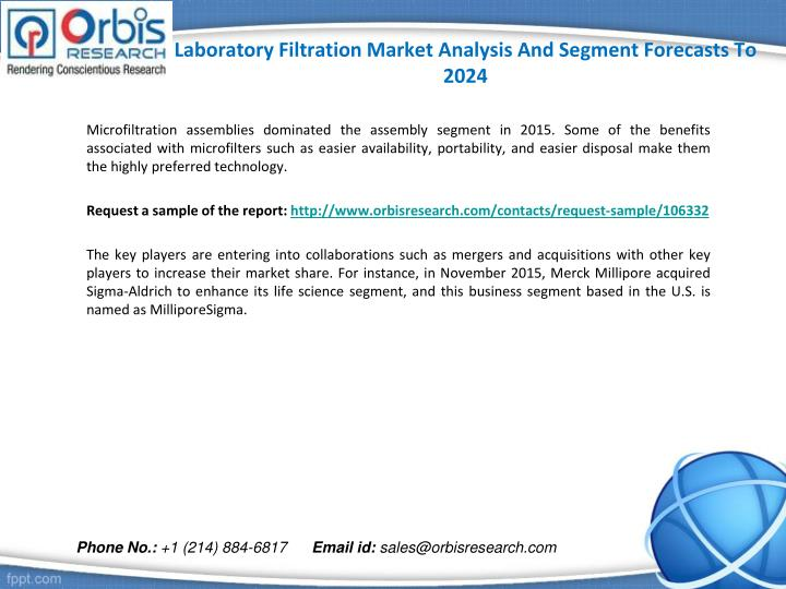 Laboratory filtration market analysis and segment forecasts to 20242