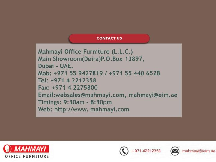 Mahmayi Office Furniture (L.L.C.)