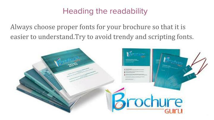 Heading the readability