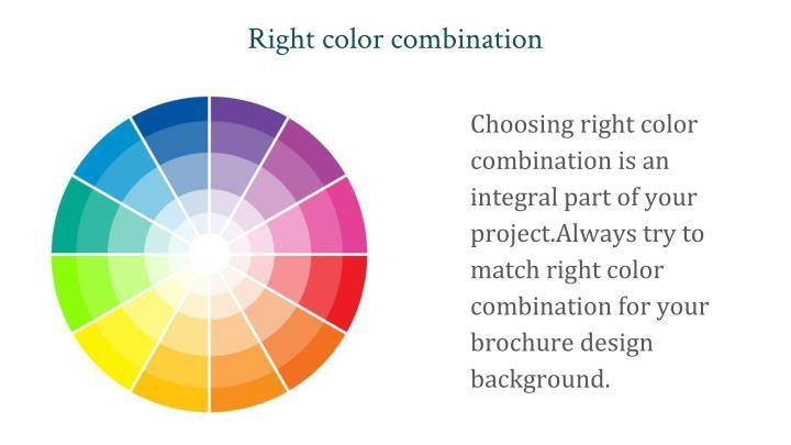 Right color combination