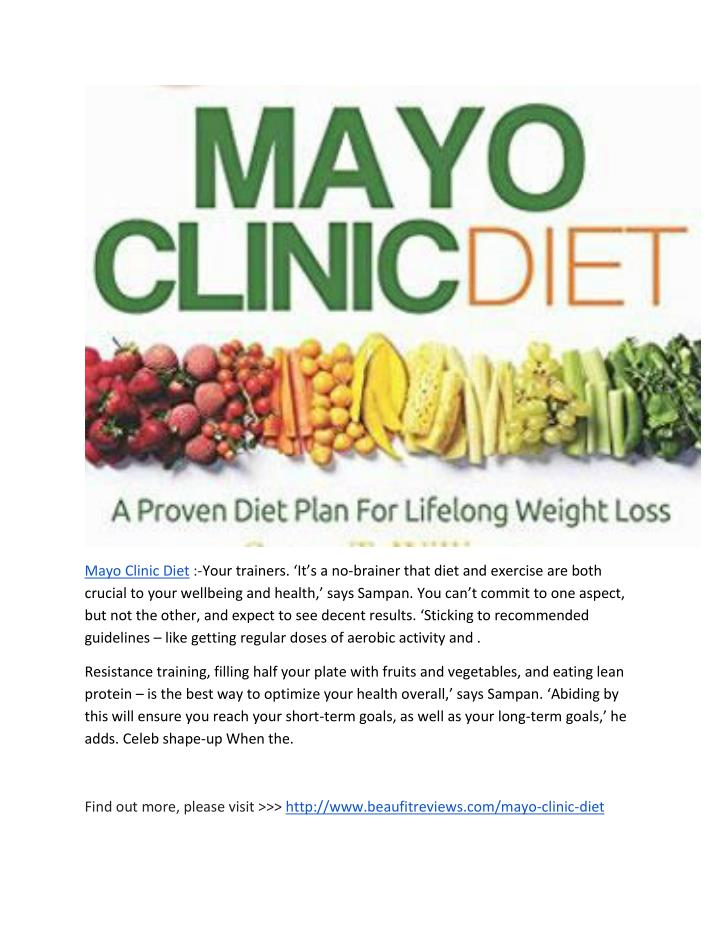 Mayo Clinic Diet :-