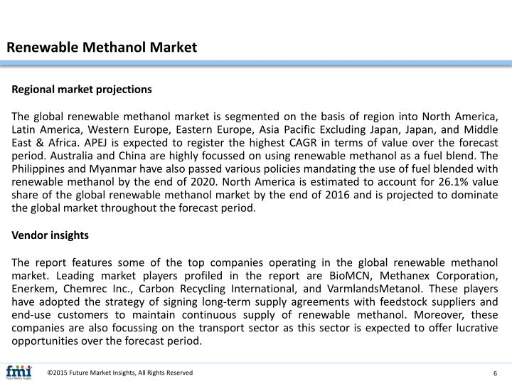 Renewable Methanol Market