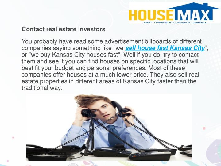 Contact real estate investors