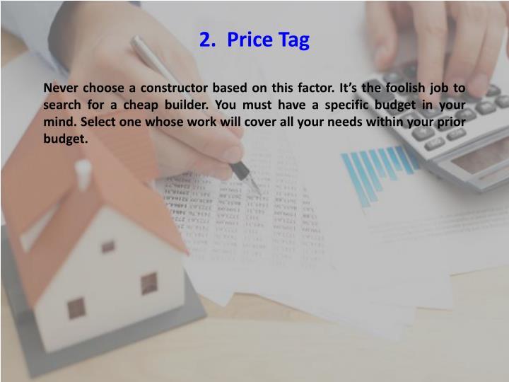 2.  Price Tag