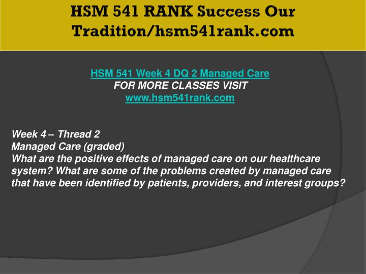 HSM 541 RANK Success Our Tradition/hsm541rank.com