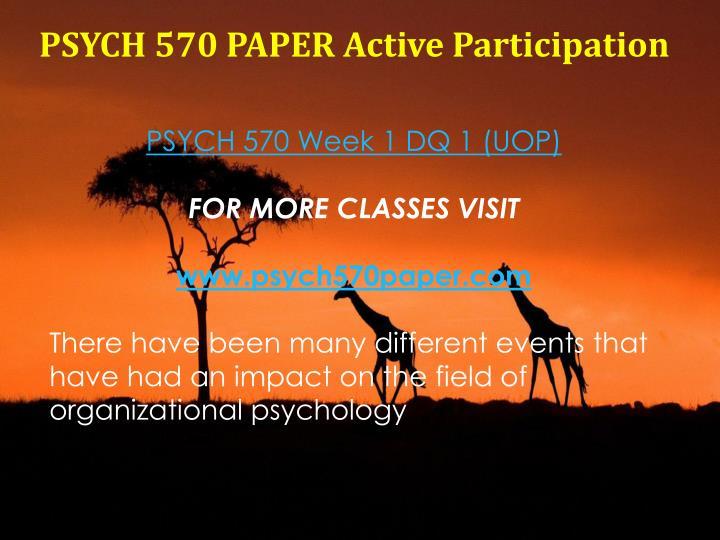 PSYCH 570 PAPER Active Participation