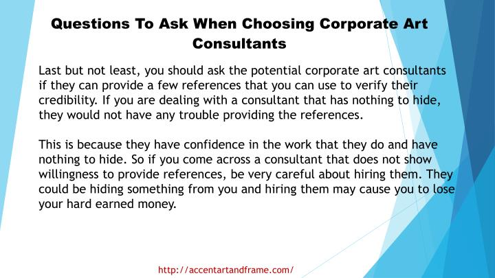 Questions To Ask When Choosing Corporate Art Consultants