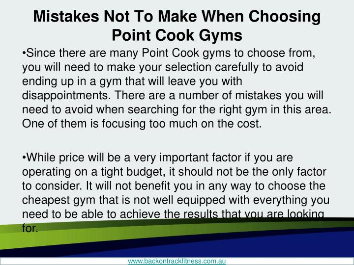 Mistakes not to make when choosing point cook gyms2