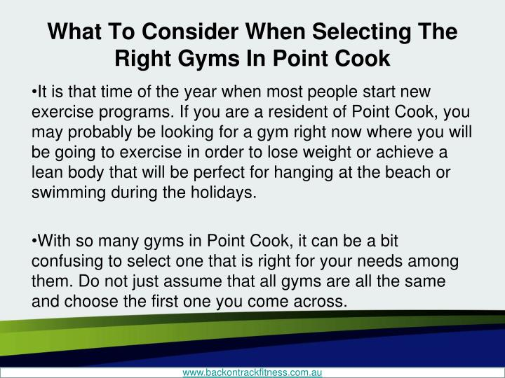 What to consider when selecting the right gyms in point cook1