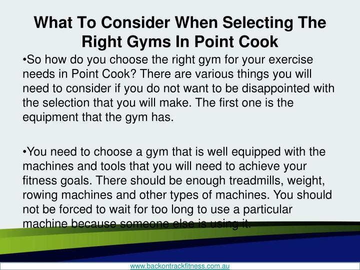 What to consider when selecting the right gyms in point cook2