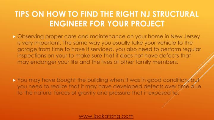 Observing proper care and maintenance on your home in New Jersey is very important. The same way you usually take your vehicle to the garage from time to have it serviced, you also need to perform regular inspections on your to make sure that it does not have defects that may endanger your life and the lives of other family members.