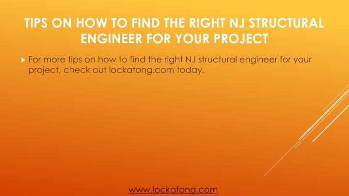 For more tips on how to find the right NJ structural engineer for your project, check out lockatong.com today.