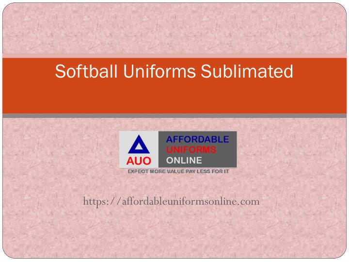softball uniforms sublimated