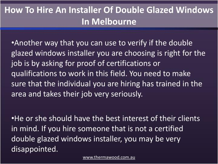 How To Hire An Installer Of Double Glazed Windows In Melbourne