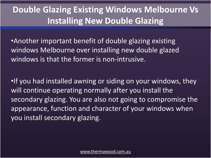 Double Glazing Existing Windows Melbourne