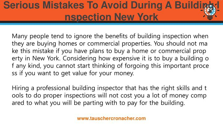 Serious Mistakes To Avoid During A Building Inspection New York