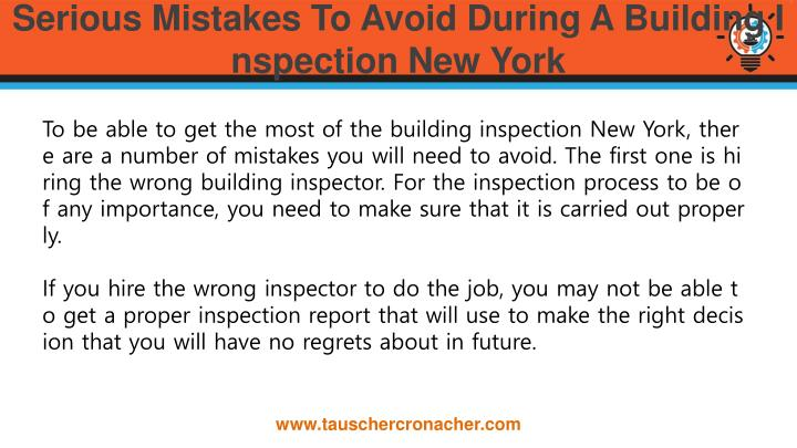 Serious mistakes to avoid during a building inspection new york1