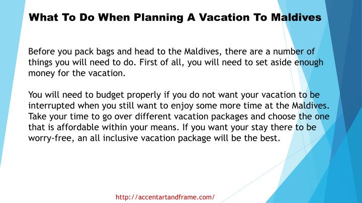 What To Do When Planning A Vacation To Maldives
