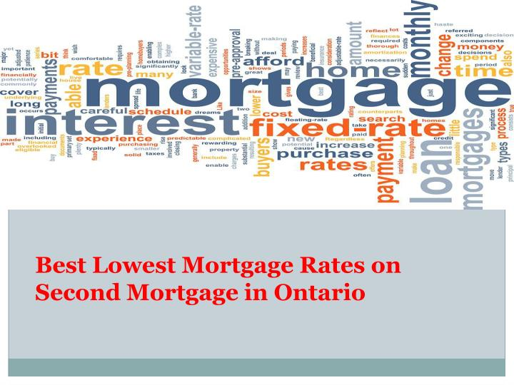Best Lowest Mortgage Rates on Second Mortgage in Ontario