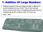 1 addition of large numbers