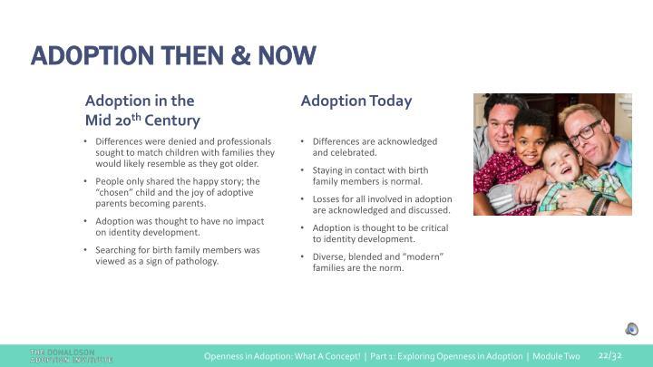 ADOPTION THEN & NOW