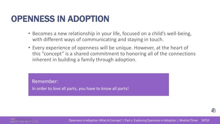OPENNESS IN ADOPTION