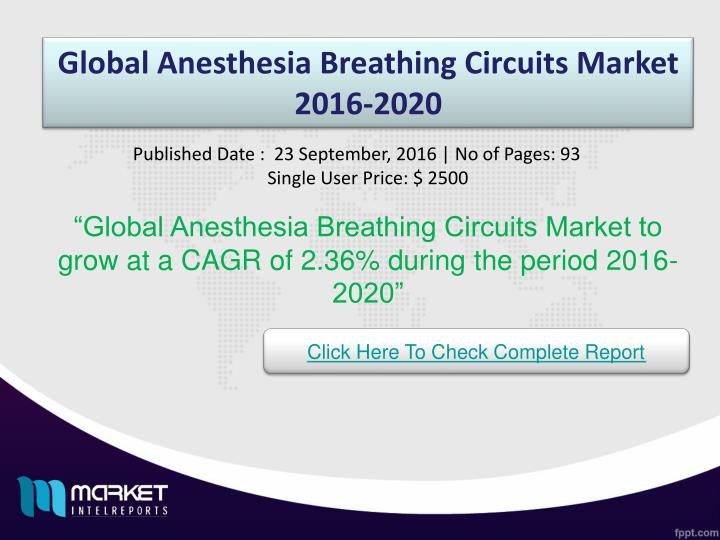 Global Anesthesia Breathing Circuits Market 2016-2020