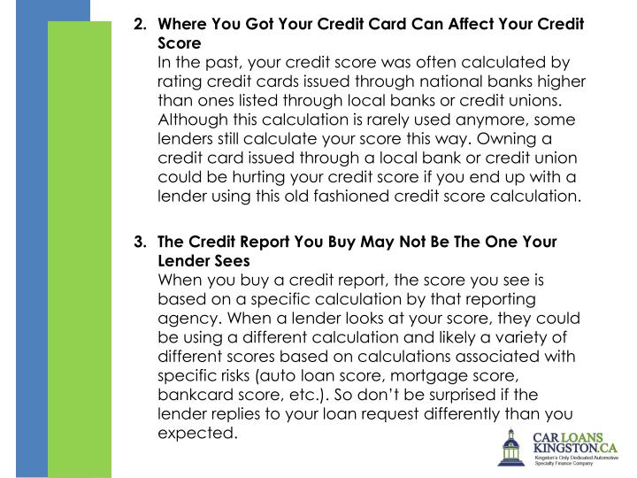 Where You Got Your Credit Card Can Affect Your Credit Score