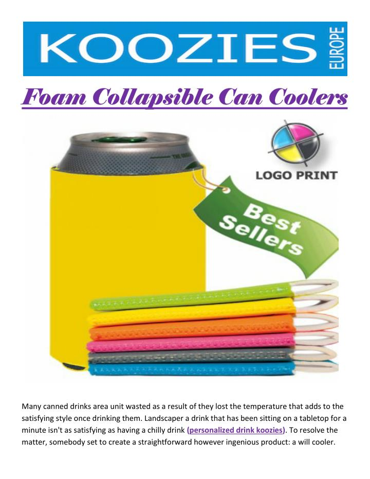 Foam Collapsible Can Coolers