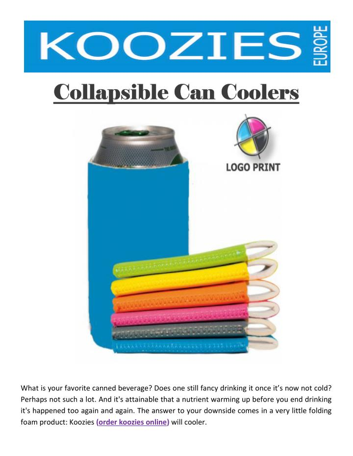 Collapsible Can Coolers