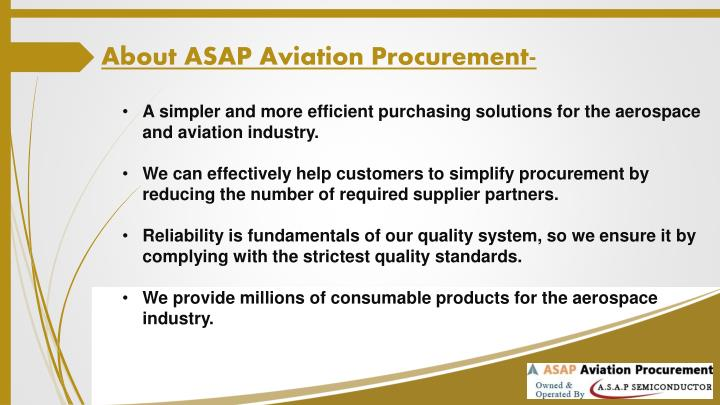 About ASAP Aviation Procurement-