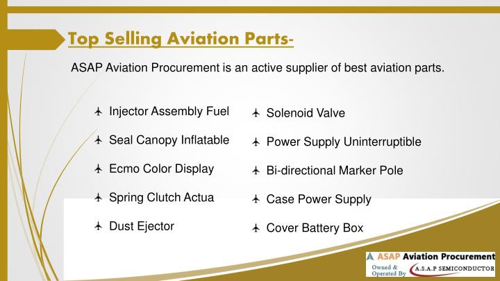 Top Selling Aviation Parts-