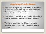 applying crack sealer