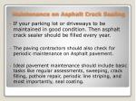 maintenance on asphalt crack sealing