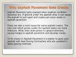 why asphalt pavement gets cracks