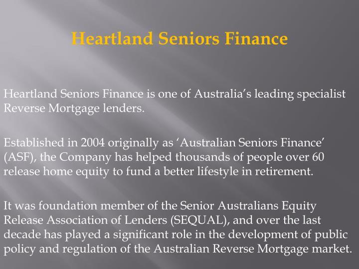 Heartland Seniors Finance
