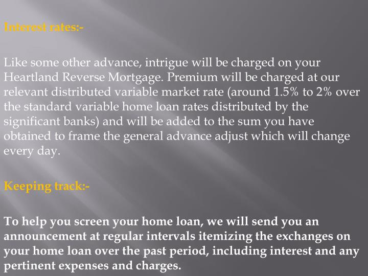 Interest rates:-