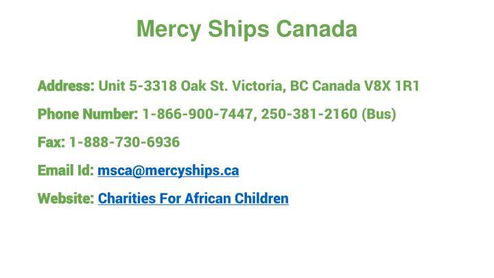 Mercy Ships Canada
