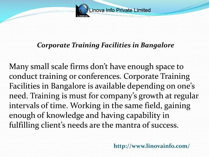 Corporate Training Facilities in Bangalore