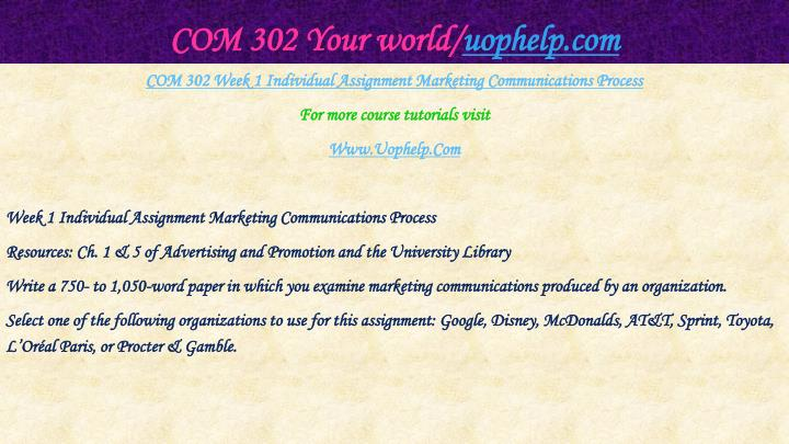 Com 302 your world uophelp com2