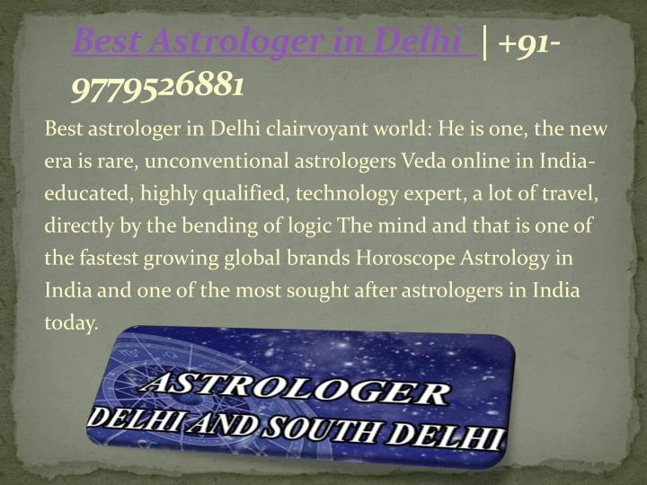 Best Astrologer in Delhi  | +91-