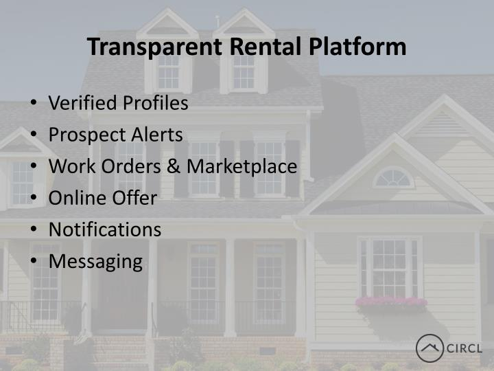 Transparent rental platform